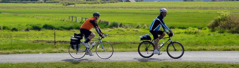 lopez island bike riding cyclists