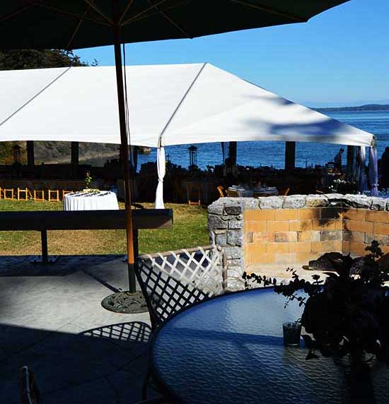 lopez island rentals wedding events tents tables chairs serving dishes