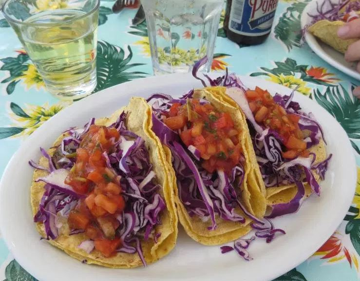 lopez island restaurant outdoor seating fish tacos bucky's