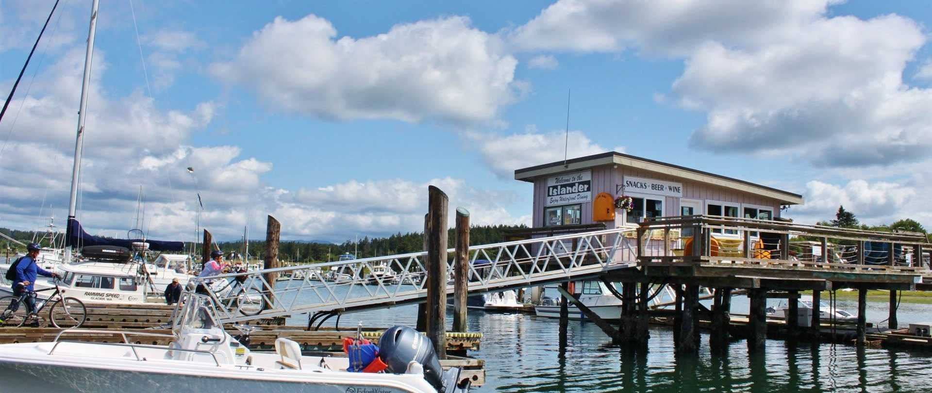 lopez islander marina moorage resort lopez island restaurant spa camping accommodations