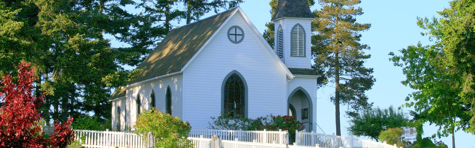 lopez island church catholic wedding venue historic union cemetery Center Church