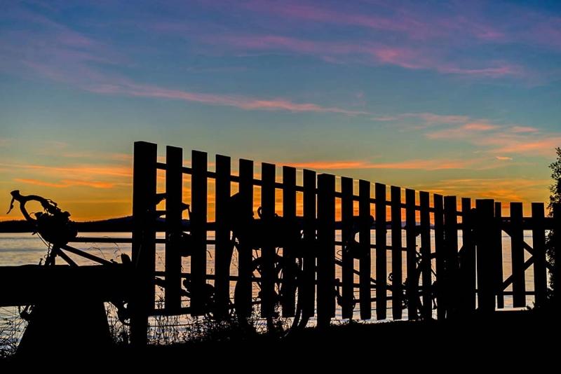 lopez island karlena pickering biking cycling sunset