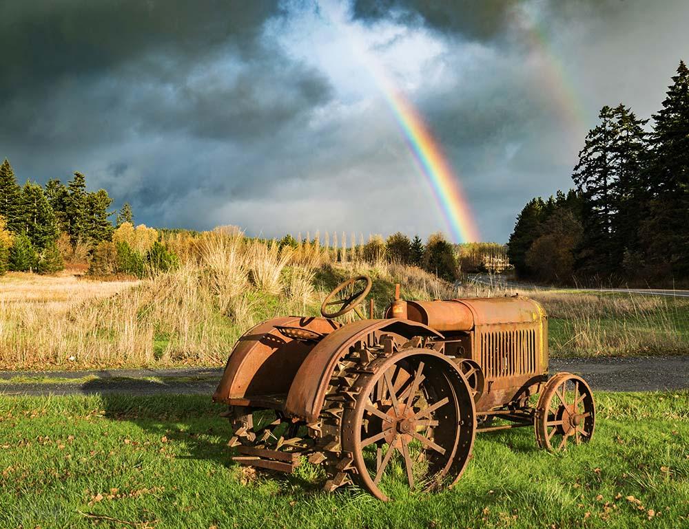 lopez island karlena pickering farm farming tractor