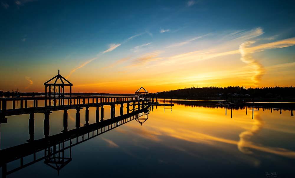 lopez island karlena pickering fisherman bay sunset dock