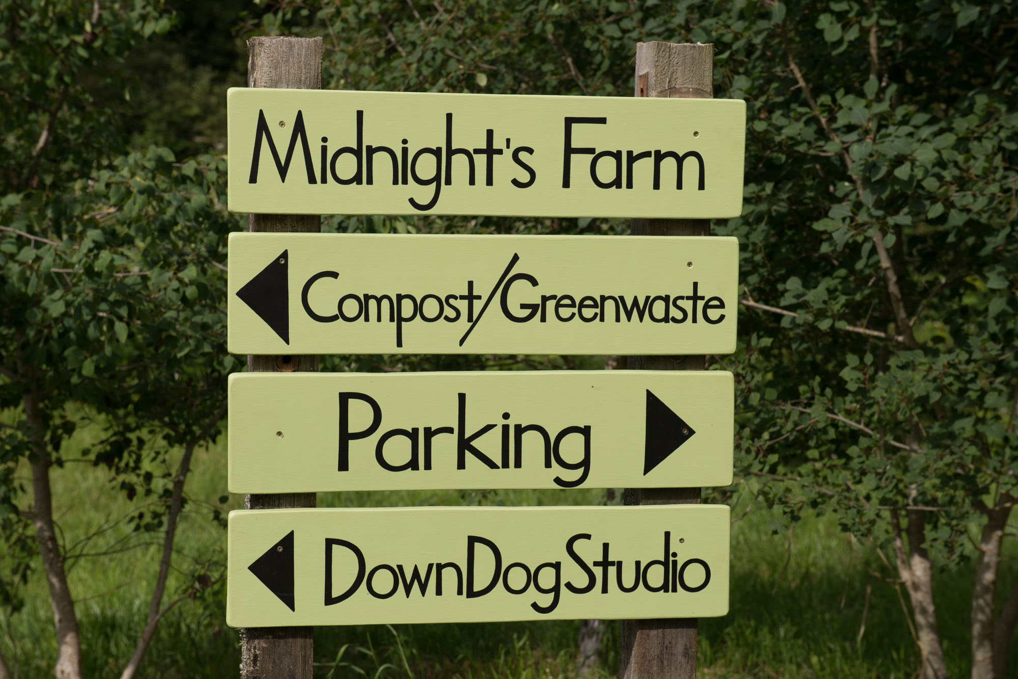 midnight farm compost greenwaste yoga dojo lopez island